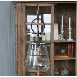 Szklana lampa industrialna Factory B Chic Antique