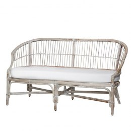 Bielona sofa rattanowa NANCY Chic Antique