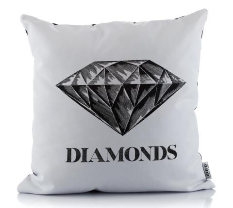 Biała Poszewka Na Poduszkę Diamonds Aluro